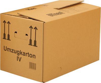 Umzugskartons, 1-wellig, 594 x 286 x 295 mm, 25 Stück