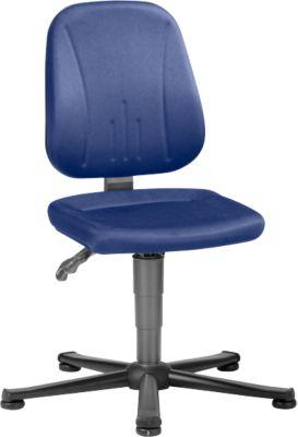 Unitec ESD industriële draaistoel met glijders, stof, Duotec-blauw, Unitec ESD met glijders