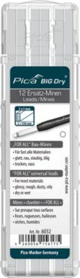 Universal Ersatzminen Pica BIG Dry FOR ALL, 5 mm, wasserlöslich, mit Etui, weiß, 12 Stück