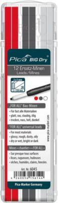 Universal Ersatzminen Pica BIG Dry FOR ALL, farbsortiert, 5 mm, wasserlöslich, mit Etui, 12 Stück