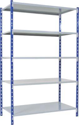 Universal-Steckregal, Grundfeld, 5 Gitterböden, Traglast 125 kg, B 1250 x H 2000 x T 300 mm