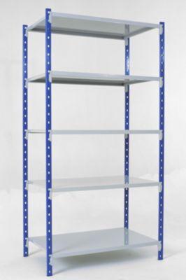 Universal-Steckregal, Grundfeld, 5 Stahlblechböden, Traglast 200 kg, B 1000 x H 2000 x T 300 mm