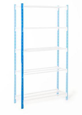 Universal-Steckregal, Stützen, mit Kunststofffüßen, H 3000 mm, himmelblau