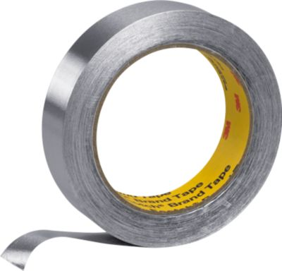 Universeel zacht-aluminium-plakband, 50 mm x 50 m, zilver