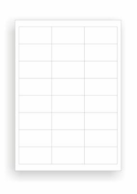 Universele etiketten, 64,6 x 33,8 mm