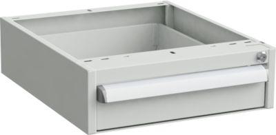 Unterbau-Container für Werkbänke, Zentralverschluss, mit ESD-Schutz, B 450 x T 520 mm, 1 Schublade