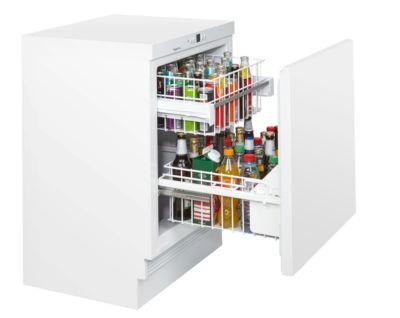 Unterbau-Flaschenkühlschrank KM 141 FL2, für Flaschen bis 0,5 l, B 600 x T 600 x H 820-880 mm