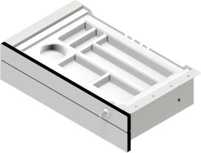Unterbau-Schublade für elektr. höhenverstellbaren Schreibtisch TOPAS Line, 2 Schübe, B 460 mm
