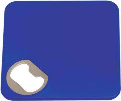 Untersetzer und Flaschenöffner 2-in-1, blau