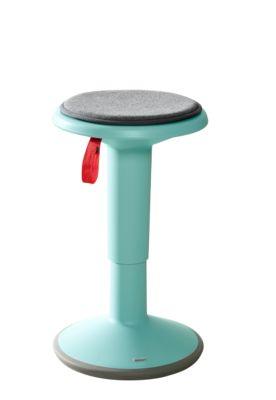 UPis1 Mehrzweck-Hocker, mit Sitzkissen, höhenverstellbar, türkis