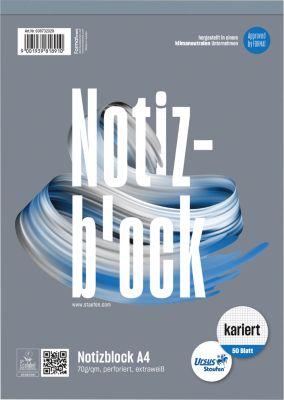 Ursus Notizblock, mikroperforiert, kariert, DIN A4