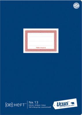 Ursus® Ö-Heft, A4, 20 Blatt, liniert
