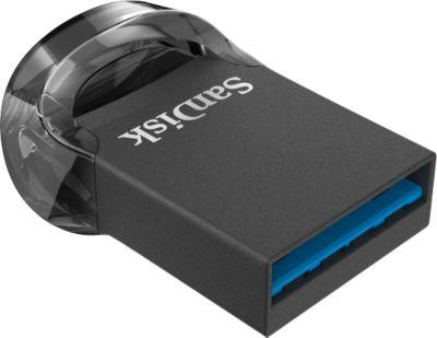 USB Flash Laufwerk SanDisk Ultra Fit USB 3.1, kompatibel mit USB 2.0/3.0, Passwortschutz, 128 GB