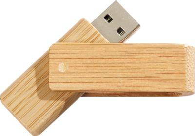 USB-Stick 2.0 Twister Bambus, Speicherkapazität 4 GB