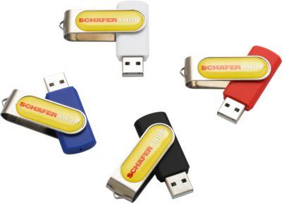 USB-Stick Doming, 4 GB, blau