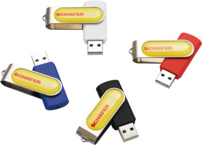 USB-Stick Doming, 4 GB, rot