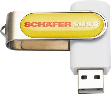 USB-Stick Doming, weiß, 4 GB