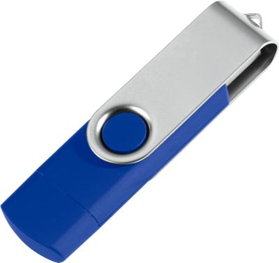 USB-Stick, mit Micro-USB-Anschluss,  4 GB, blau