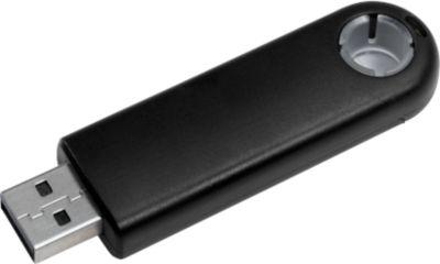 USB-Stick Round F88, schwarz, 4 GB