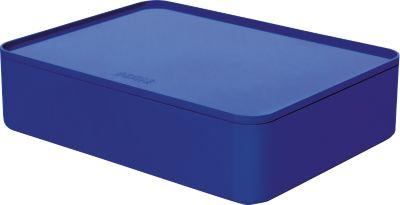 Utensilienbox HAN Allison Smart-Organizer, stapelbar, mit Deckel, rutschfeste Gummifüße, ABS-Kunststoff, royal-blau