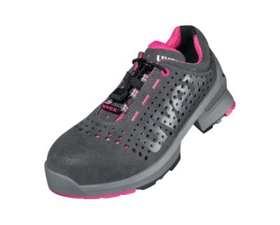 uvex ESD veiligheidsdames lage schoen 1 dames, S1 SRC, geperforeerd, luchtdoorlatend, met kunststof pet, breedte 10
