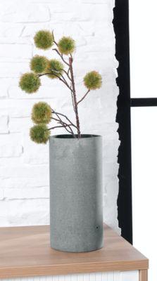 Vaas Blomus COLUNA, cilindrisch, ø 140 x H 290 mm, polyhars, met vilten viltlaag, donkergrijs.
