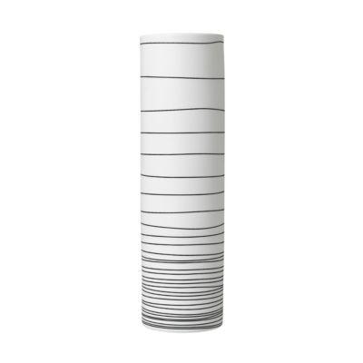 Vaas Blomus Zebra, handgemaakt, porselein, wit/antraciet, H 300 mm