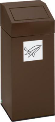 VAR afvalsorteersysteem, inhoud 45 liter, bruin