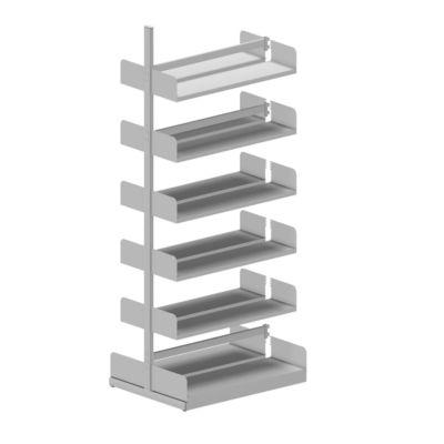 Variabo Freiarmregal, Anbaufeld, doppelseitig, 250 mm Fachtiefe, 1000 x 2500 mm