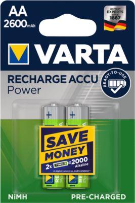 VARTA oplaadbare batterijen,, AA (Mignon), 2600 mHa, pak van 2 stuks