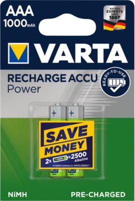 VARTA oplaadbare batterijen,, AAA (Mcro), 1000 mHa, pak van 2 stuks