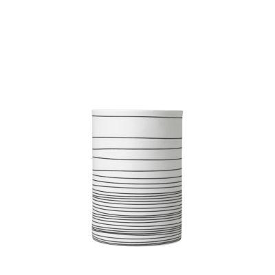 Vase Blomus Zebra, handgefertigt, Porzellan,weiß/anthrazit, H 180 mm