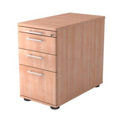 Vaste ladeblok ULM, 1 materiaallade, 2 laden, 1 hangmappenlade, b 428 x d 800 x h 720-760 mm, notendecor