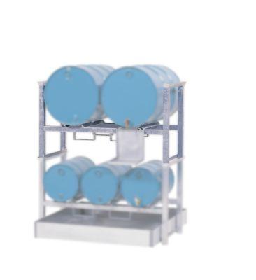 Vaten- en stapelpallet, voor 2 x 200 l vaten