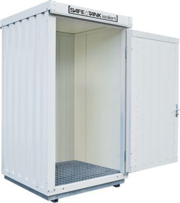 VEILIGE VEILIGHEIDSTANK STI 200, geïsoleerd, 1420 x 1490 mm, voor niet-ontvlambare stoffen die gevaarlijk zijn voor water.