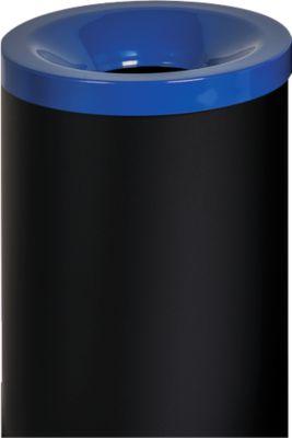 Veiligheidsafvalbak Grisu Color, 50L, zwart/blauw, 50L, zwart/blauw