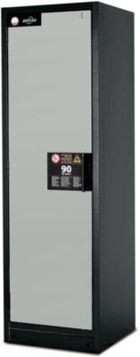 Veiligheidskast type 90, b 600 mm, deur links, 3 legb., l.grs