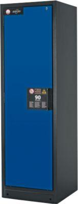 Veiligheidskast type 90, b 600 mm, deur links, 6 laden, g.blauw