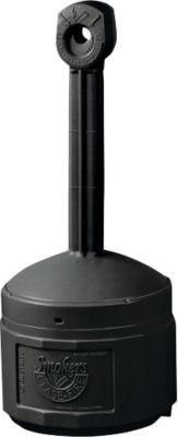 Veiligheidsstandaard asbak, robuust, brandvertragend kunststof, binnenbak 15 liter, zwart, met een inhoud van 15 liter.