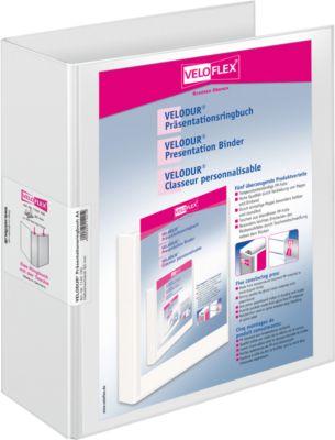 VELOFLEX Präsentationsordner VELODUR, A4, 80 mm, Karton PP