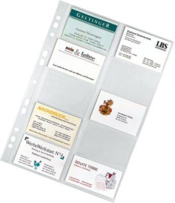 VELOFLEX Visitenkartenhülle, DIN A4, transparent, 10 Stück