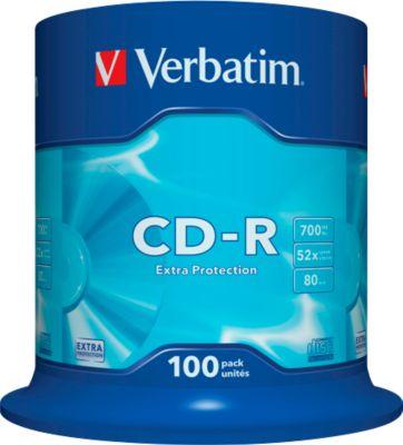 Verbatim CD-R, bis 52fach, 700 MB/ 80 min, 100er-Spindel