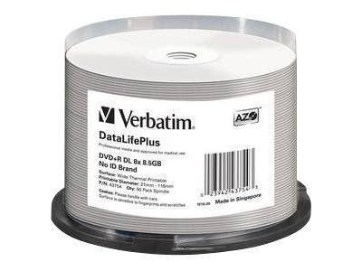 Verbatim DataLifePlus Professional - DVD+R DL x 50 - 8.5 GB - Speichermedium