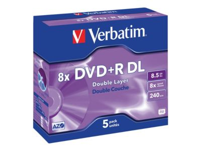Verbatim - DVD+R DL x 5 - 8.5 GB - Speichermedium
