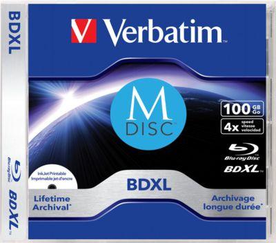 Verbatim DVD-Rohlinge M-Disc BD-R XL (Blu-ray), 100 GB, bedruckbar 1 Stück