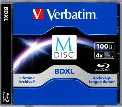 Verbatim DVD-Rohlinge M-Disc BD-R XL (Blu-ray), 100 GB, Jewelcase, 1 Stück
