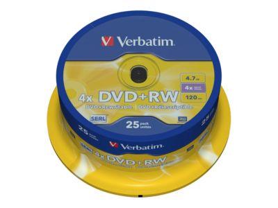Verbatim - DVD+RW x 25 - 4.7 GB - Speichermedium
