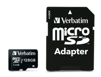Verbatim-geheugenkaart MicroSDHC/SDXC Premium, Geheugencapaciteit, 128 GB.