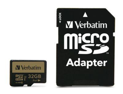 Verbatim Speicherkarte Micro SDHC/SDXC Pro+, Speicherkapazität 32 GB