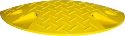 Verkeersdrempel, eindstuk (<10 km/h), geel